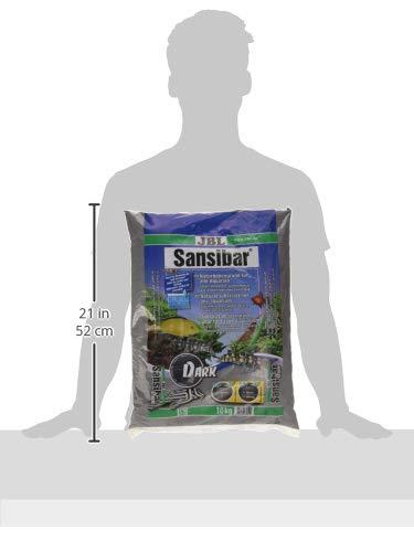 JBL Bodengrund Dunkel für Süßwasser Aquarien, Sansibar Dark 10 kg, 67051 - 3