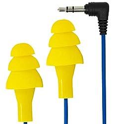 cheap Plugfones Basic Earplug-Earbud Hybrid – Noise Canceling Headphones – Yellow