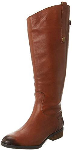 Sam Edelman Women's Penny 2 Wide Shaft Riding Boot, Whiskey Leather, 10 M US