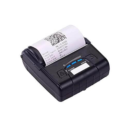 Impresora de Recibos Impresora De Recibos Térmicos De 80 Mm USB BT Conexión Inalámbrica Soporte De Soporte ESC/POS Uso Extensivo (Color : Black, Size : One Size)