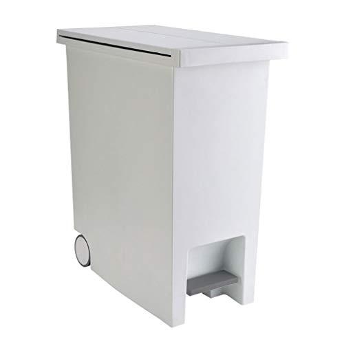liushop Cubo de Basura Bote de Basura de Gran Capacidad para el hogar Pedal Creativo Baño de la Cocina Salón Dormitorio con Tapa Basura Bote de Basura