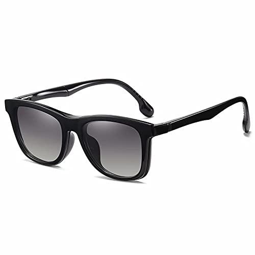 Yijiakeji Gafas de moda anti-luz azul para hombre y mujer, con lentes transparentes, goma ligera, titanio, montura, protección UV, antifatiga y fatiga visual.