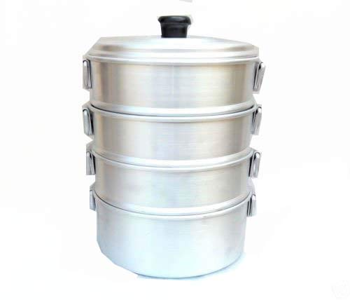 Zmatoo chef catering aluminum steamer/Big size chef cooking steamer/tamale steamer/oil free steamer/size 8.00 Inch