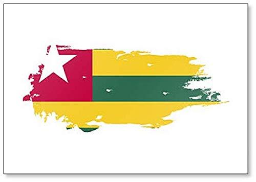 Kühlschrankmagnet Togo Flagge, Grunge Brush Style