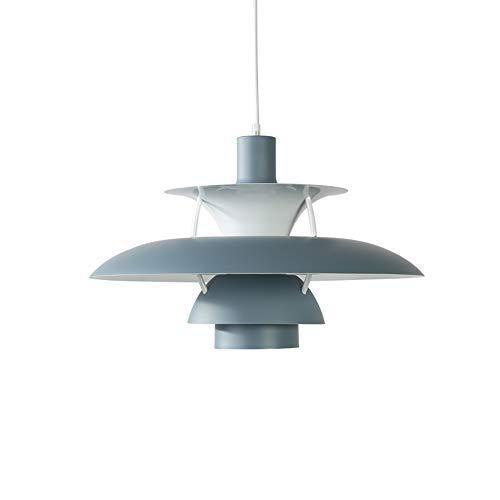 UFO Chandelier Lámparas colgantes de diseño creativo Lámpara colgante/Elegante y elegante/Lámpara de techo Pantalla de tambor gris grande Lámpara colgante redonda de 3 niveles Altura