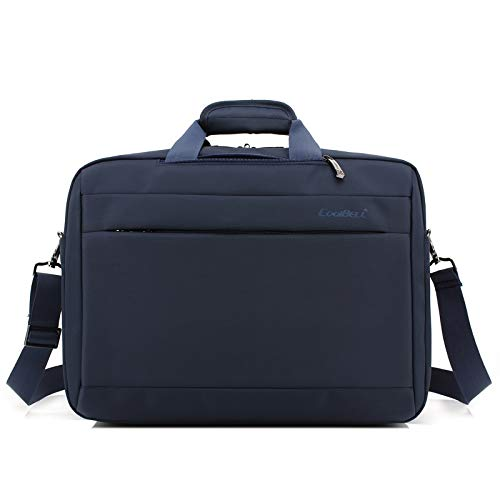 QiuKui Tab Cover For Macbook Lenovo, Multifunction Backpack Men Business Sleeve Shoulder Bag Handbag Laptop Bags Briefcase For Macbook Lenovo 15.6 17.3 Inch (Color : Blue, Size : 17 inch)
