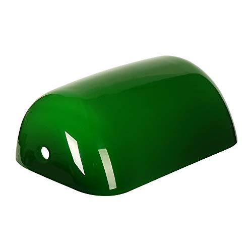 Newrays Green Glass Bankers Lamp Shade Replacement Cover,L8.85 W5.11