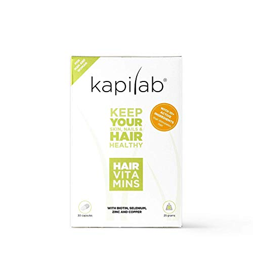 Kapilab Hair Vitamins 30 capsules Prevents Hair Loss Creates Stronger Follicles Healthy Long Lasting Hair For Hair Growth