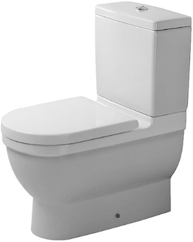 Duravit Stand-WC Kombi Starck 3 655 mm Tiefspüler,für SPK,Abg.Vario,wei,HYG, 0128092000