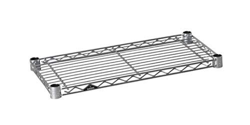 ルミナス ポール径19mm用パーツ 棚板 スチールシェルフ(耐荷重150kg)ワイヤー幅方向 1枚(スリーブ付き) 幅49.5×奥行24.5cm ST5025