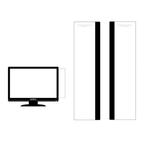 モニターメモボード 30cm セット パソコンメモボード 付箋 貼り付けボード メッセージボード オフィス用品 シンプルボード 付箋紙ツール メモシール 貼り付けメモ