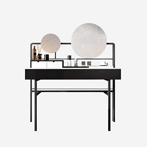 Stuhl, Make-up-Stuhl, gepolsterter Stuhl mit Gummibaumholz-Beinen für Wohnzimmer, Schlafzimmer, Empfang usw. 114,8 x 45 x 75 cm