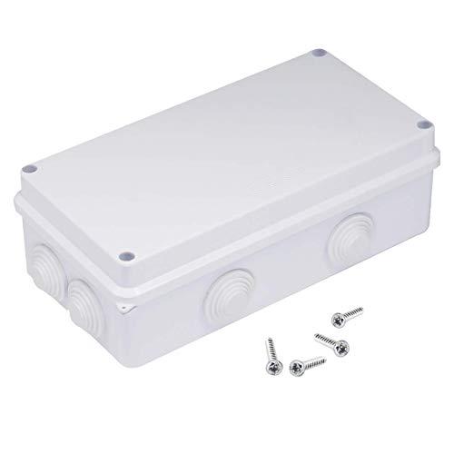Magiin Abzweigdose IP65 wasserdicht staubdicht Anschlussdose, ABS-Kunststoff Universal Verbindungdose für Feuchtraum (200 * 100 * 70mm)