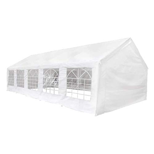 Küchenks Gazebo Party Marquee Party Tent Party Tent for Outdoor Events Sturdy Frame White 10x5 m