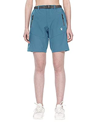 Little Donkey Andy Women's Stretch Quick Dry Cargo Shorts for Hiking, Camping, Travel Slate Size L