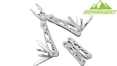 Alpina Sport Multi Tool T1 kleines Multitool, Silber, One size