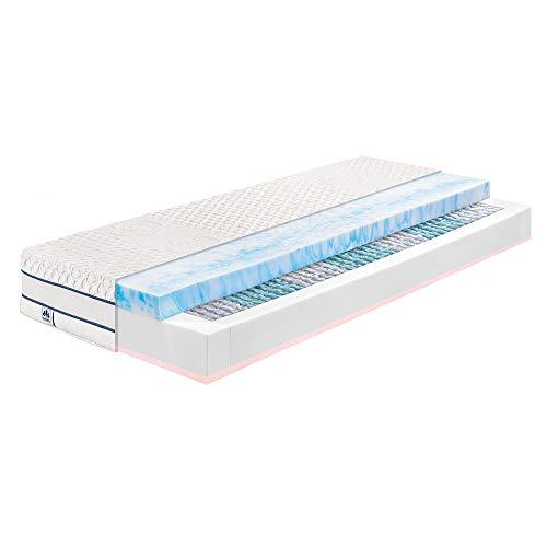 Badenia irisette Gel-Active® Comfort TFK Taschenfederkern-Matratze, 90 x 190 cm, Härtegrad: H3 fest, Bezug abnehmbar und 60° waschbar