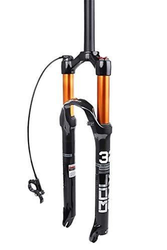 Horquilla de suspensión Ultraligera 26 27.5 29 Pulgadas Mountain Bike Front Front Bike Suspension Tenedor MTB Aire Aire Amortiguador Amortiguador Recto 1-1/8'Freno de Disco Bicicleta HL/RL para l