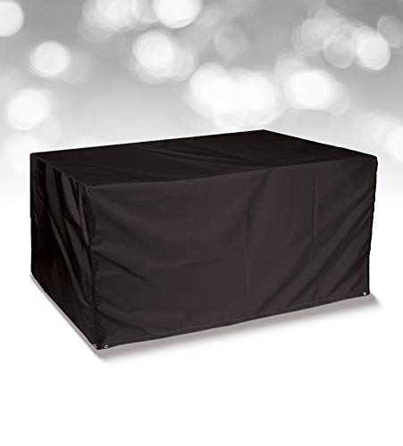 Bosmere Simply Cover 4 Seat Rectangular Table Cover, Blackberry (Black), Q350
