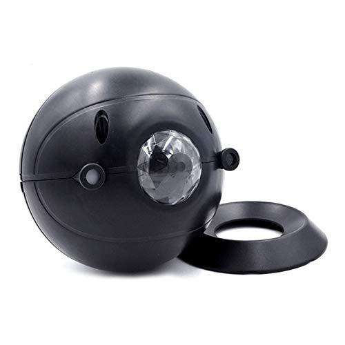 Henreal Lámpara de proyección de cielo estrellado con base USB recargable romántica estrella proyector con control remoto regalo para el hogar habitación