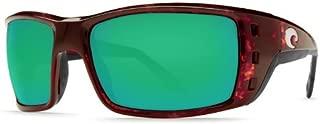 New Costa Del Mar Permit 580G Tortoise/Green Mirror Polarized Lens 59mm Sunglasses