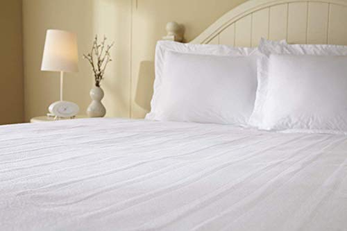 Sunbeam Heated Mattress Pad   Polyester, 10 Heat Settings,White , King - MSU1GKS-N000-11A00
