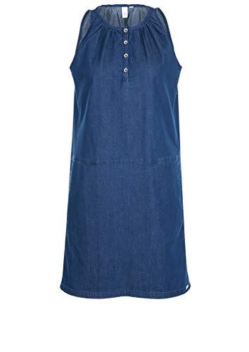 Q/S designed by - s.Oliver kurzes Kleid Kleid, Damen, Blau 34 EU