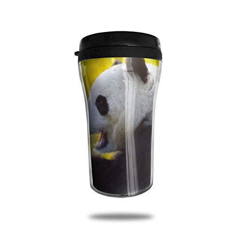 Cute Panda Travel Coffee Mug 3D Printed Portable Vacuum Cup,Insulated Tea Cup Water Bottle Tumblers for Drinking with Lid 8.54 Oz (250 Ml)