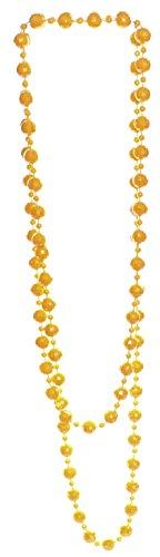 gelbe Perlenkette facettiert Länge 130 cm, Kugelkette aus Acryl