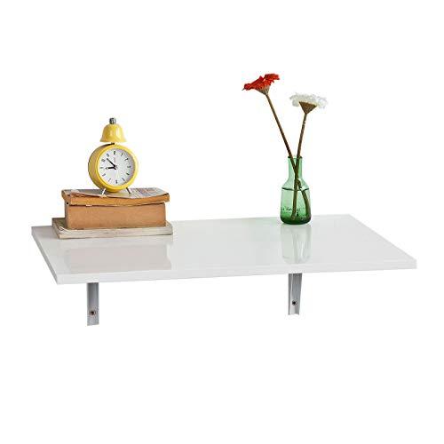 SoBuy® FWT21-W Wandklapptisch Klapptisch Esstisch Küchentisch aus MDF weiß (60x40cm)