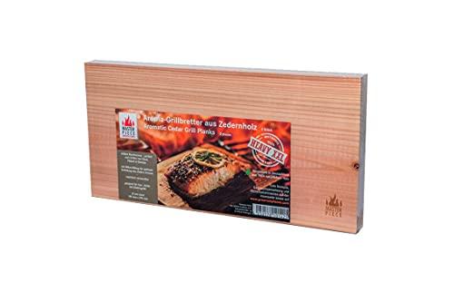 MASTER PIECE Select Heavy XXL 2 Grillbretter, 15mm Starke extralange Grillplanken Zeder Premium Qualität, Set à 2 STK, BBQ Räucherbretter