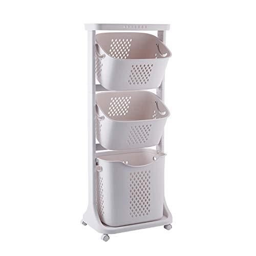 bretoes Laundry Basket Bathroom Multi-layer Clothes Storage Basket Household Bathroom Simple Storage Shelf Kitchen Shelf Fruit Stand