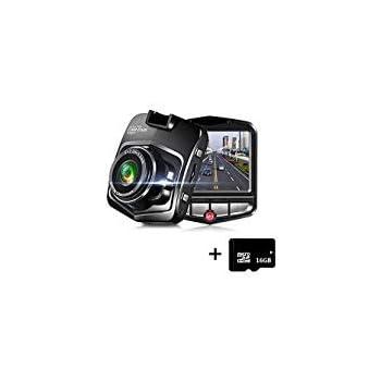 Full HD 1080P Mini Dash Cam Car Blackbox Car DVR 140 Wide Angle Dashboard Camera Vehicle Camera Front G-Sensor Motion Detection Loop Video Recorder Night Vision with 16GB Micro SD Card Parking Monitor