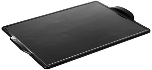 Emile Henry Rectangular Grill/Oven pizza stone, 18.0' x 14.0', Charcoal