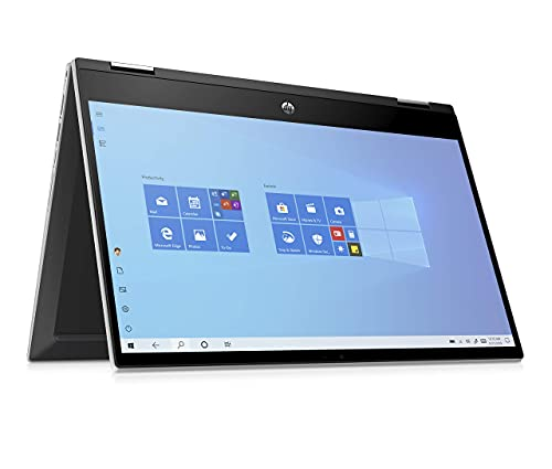 HP Pavilion x360 14-dw0024na 14 Inch Full HD Touch Screen Convertible Laptop, Intel Core i3-1005G1,...