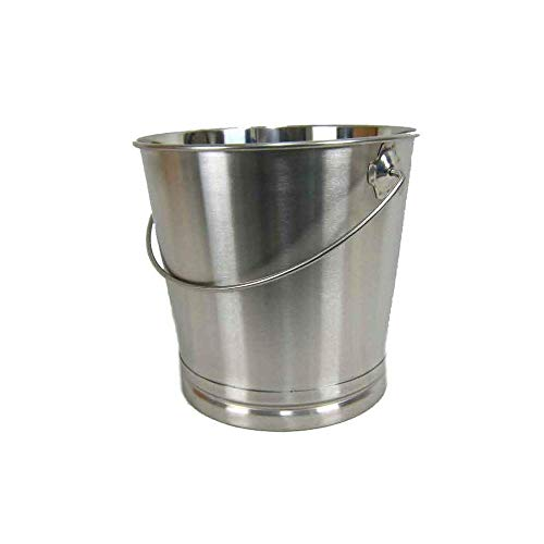 Eimer Kücheneimer Futtereimer Milcheimer Sektkühler Eis-Eimer Edelstahl 14 Liter mit Skalierung
