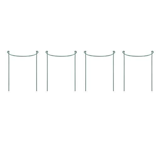 Amuse-MIUMIU Metall-Garten Stützen | 4 Stück | Halbrund Pflanzenstützen Grün | Staudenhalter Blumenhalter Rankengewächs Pflanzenstütze Blumenstütze Staudenstütze Rankhilfe Strauchhalter Rosenstütze