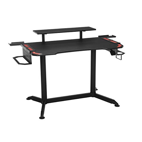 RESPAWN 3010 Gaming Computer Desk - Ergonomic Height Adjustable Gaming Desk, in Red
