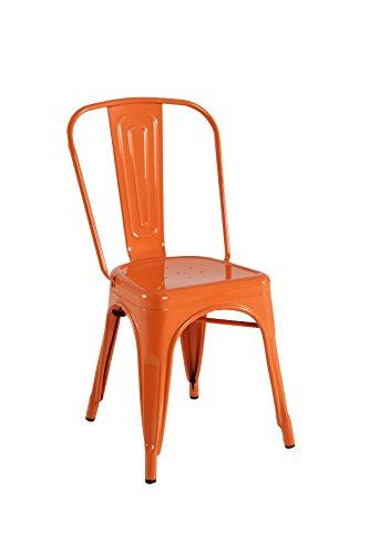 Kit Closet sillas y taburetes inductrial, Metal, Naranja