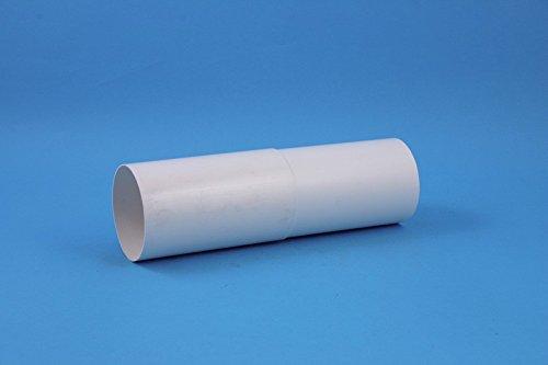 daniplus© Rohr, 100er Mauerdurchführung teleskopisch, ausziehbar 300-500mm Ø 100mm für Dunstabzug