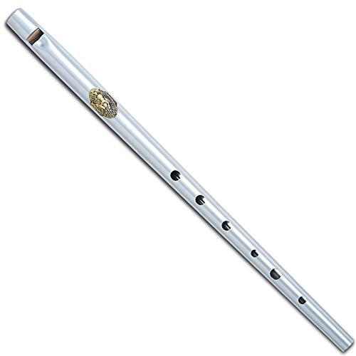 Black/Silver Metal Ireland Flute Clarke Tinwhistle Irish Whistle Flute in C/D Key (Silver Key C)