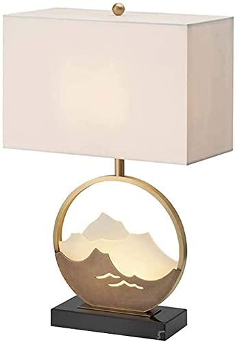 Palm kloset Lámpara de Mesa Lámpara de Mesa de mármol Poste Moderno Hotel Minimalista Sala de Estar Dormitorio Estudio lámpara de Noche Modelo Suave habitación 40x62 cm
