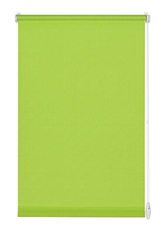 GARDINIA Rollo zum Klemmen oder Kleben, Tageslicht-Rollo, Blickdicht, Alle Montage-Teile inklusive, EASYFIX Rollo Uni, Apfel-Grün, 90 x 210 cm (BxH)