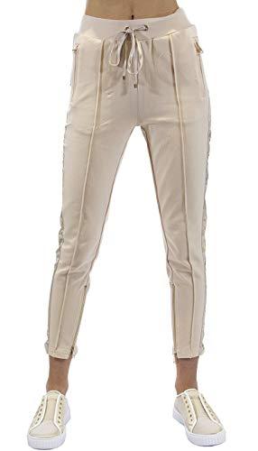 Gaudì Jeans Damen Jogginghose mit Logo 111BD24006, Overall, 111BD24006, 111BD24006 XS