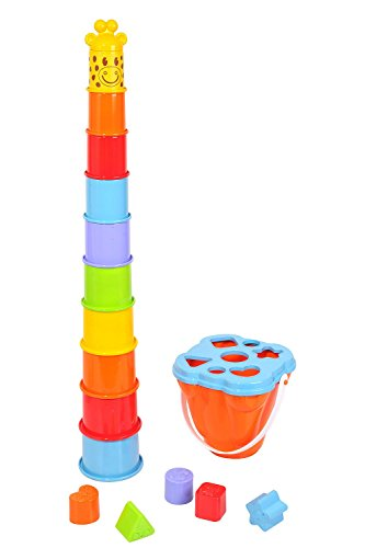 PlayGo 2388 - Spieltrainer Giraffe mit Formensortierer