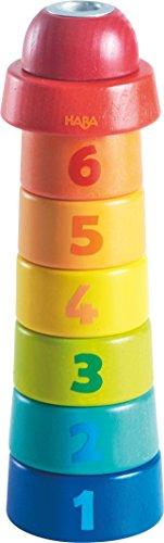 HABA 302120 – Geburtstagsturm, kunterbunter Geburtstagskerzenhalter für Mädchen und Jungen| für 1. bis 6. Geburtstag |Turm mit Geburtstagszahlen für Geburtstagskerze, Deko für den Geburtstagstisch
