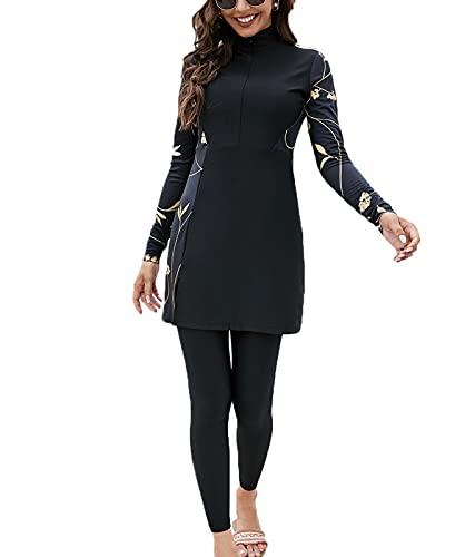 costume da bagno donna araba keephen Costume da Bagno Donna Musulmano Medio Oriente Modesto Arabo Islamico Burkini Costume da Bagno Beachwear 2 Pezzi