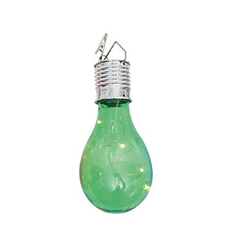 ZEZKT-Home Hanging LED Licht,Wasserdichte Solar drehbare Outdoor Garten Camping Hanging Lampe for Pond Pool Garten- Einfach zu installieren und zu verwenden, da keine Verdrahtung benötigt wird. (Grün)