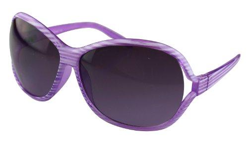 Alex Flittner Designs Nerd Sonnenbrille mit Streifen in lila