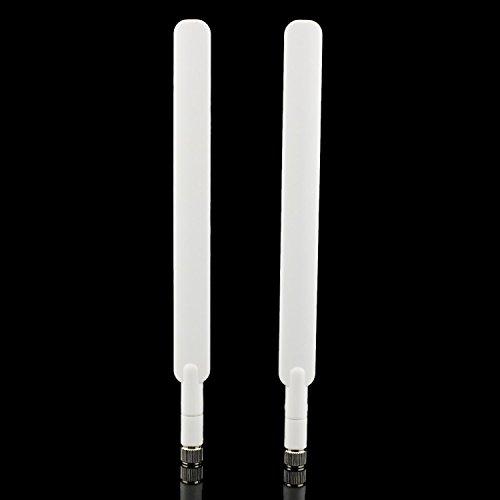 SMA Antenne 9DBI Hochleistungs- 4G LTE Antenne WiFi Signal Booster Signal Verstärker Modem Adapter Netzwerk Empfänger Antenne mit hoher Reichweite für Huawei B593/E5175/E5186/B890 etc (2 Pack)